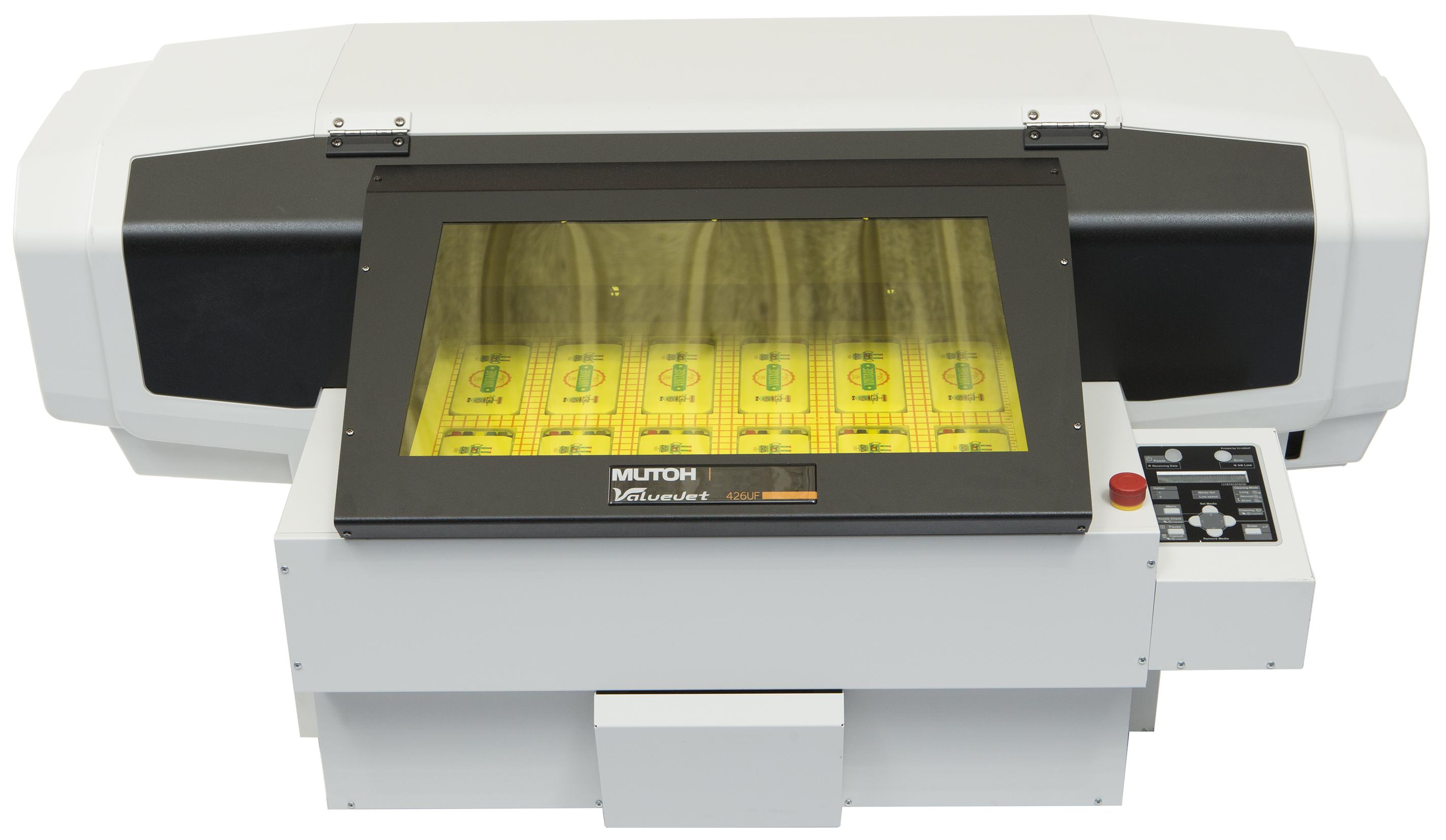 ValueJet 426UF è la stampante UV Led piana da tavolo in formato A3+.
