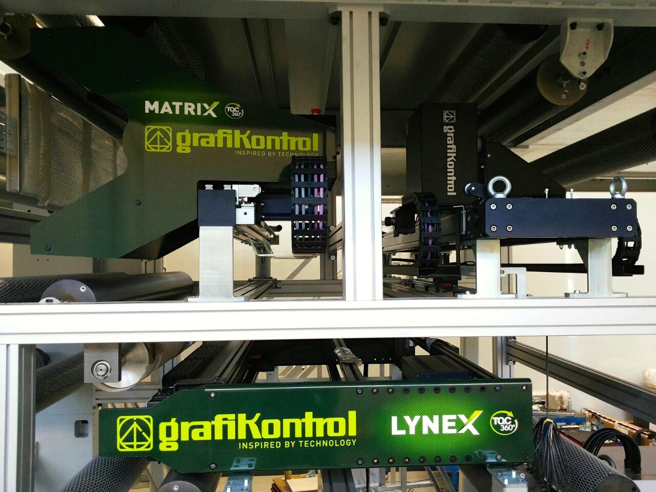 Progrex rappresenta la combinazione del sistema di controllo del processo di stampa Matrix e del sistema di ispezione al 100% Lynex.
