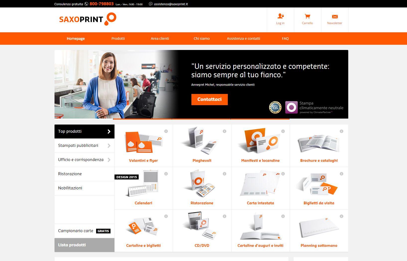 Saxoprint inaugura un portale in Italia.