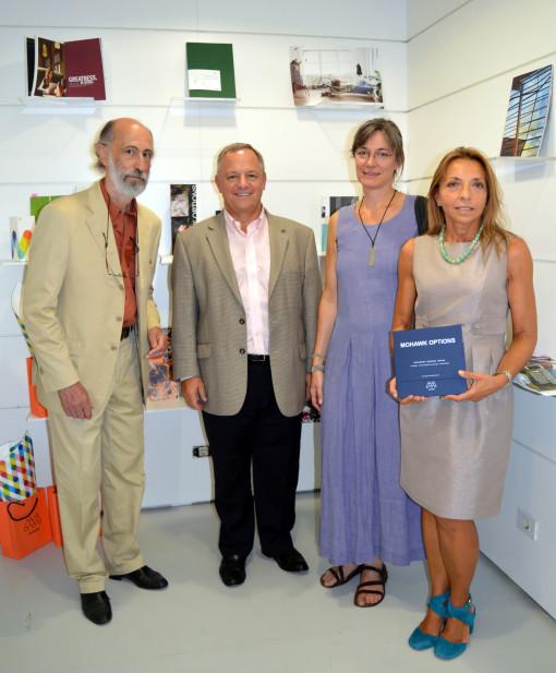 Da sinistra Jean Pierre Disseau, Joe O'Connor, Cristina Balbiano d'Aramengo e Cristina Bonfoco.
