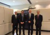 Da sinistra: Akihito Komori, Presidente di Komori International Europe; Neil Sutton, direttore vendite di Komori International Europe; Brian Filler, Presidente di Screen GP Europe; e Takanori Kakita, presidente del CdA di Screen GP Europe.