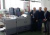 Da sinistra Rinaldo Mattera, HIT Business Driver Digital, Prinect & CTP, Giancarlo Andreoni di Unigrafica, Direttore Commerciale e Alessandro Seghezzi, HIT Key Account Lombardia Supplies.