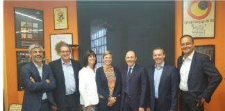 Da sinistra: Ignaci Cusi, Xavier Boadas, Debbie Waldron- Hoines, Beatrice Klose, Sante Conselvan, Wim Buyle, Emmanuel Chaud.