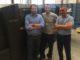Da sinistra Andrea Voltolini (titolare di Paperskin) e Maurizio Baccolini (Responsabile Tecnico), Giorgio Galetti, Scodix Heidelberg Italia.