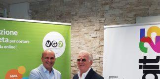 A sinistra il sig. Mario Cunsolo, titolare di Vampigroup srl - VG7, con Enrico Parisini, titolare di Edigit.