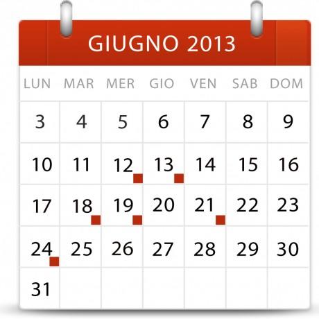Calendarietto giugno