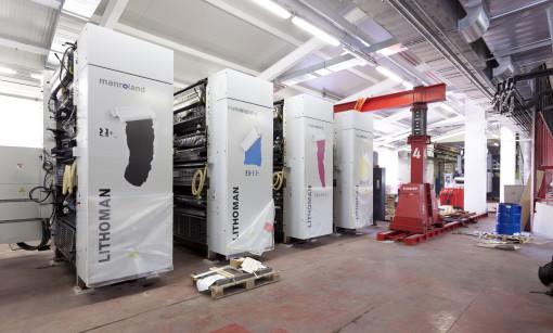Iniziata l'installazione della nuova manroland Lithoman IV 48 pagine  presso Rotolito Lombarda.