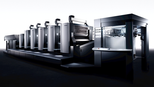 La Heidelberg Speedmaster CX 102 5LX2 parte in produzione presso Galli Thierry Stampa di Milano.