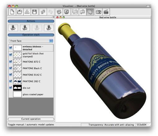 Esko_3D Visualizer_label application