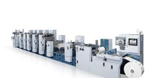 MLP, la macchina semirotativa offset UV di Miyakoshi per la stampa di etichette di alta qualità.