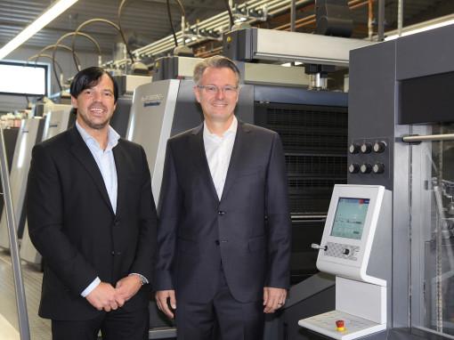 A sinistra il fondatore e amministratore delegato di Onlineprinters Walter Meyer e a destra l'amministratore delegato Michael Fries.