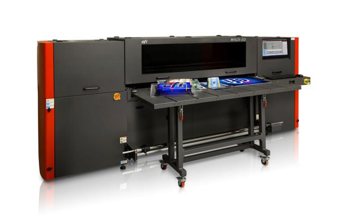 La nuova stampante per termoformatura Efi H1625-SD da 1,65 metri che utilizza l'inchiostro Efi SuperDraw Uv.