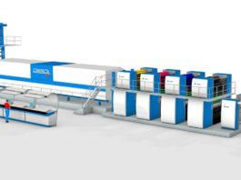 La rotativa KBA Compacta 618 per qui Qipc ha fornito il nuovo sistema di automazione.