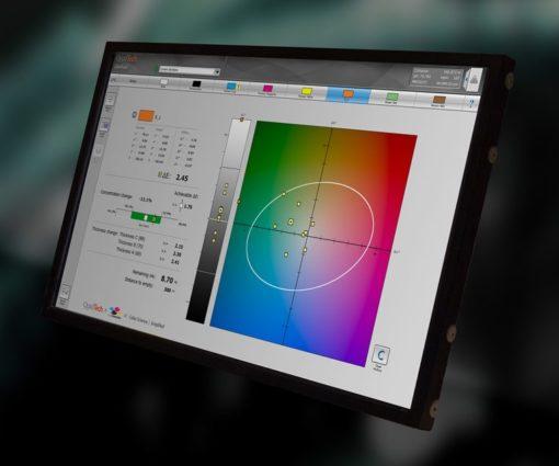 ColorTrack consente agli operatori di acquisire ed elaborare le misurazioni di colore, facilitandone una rapida correzione in macchina delle ricette di inchiostro.